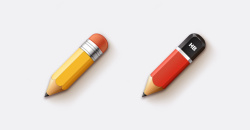 2 Cartoon Pencils