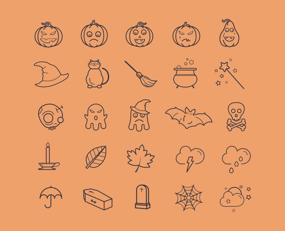 20 Halloween Icons