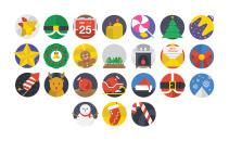 24 Christmas Flat Icons