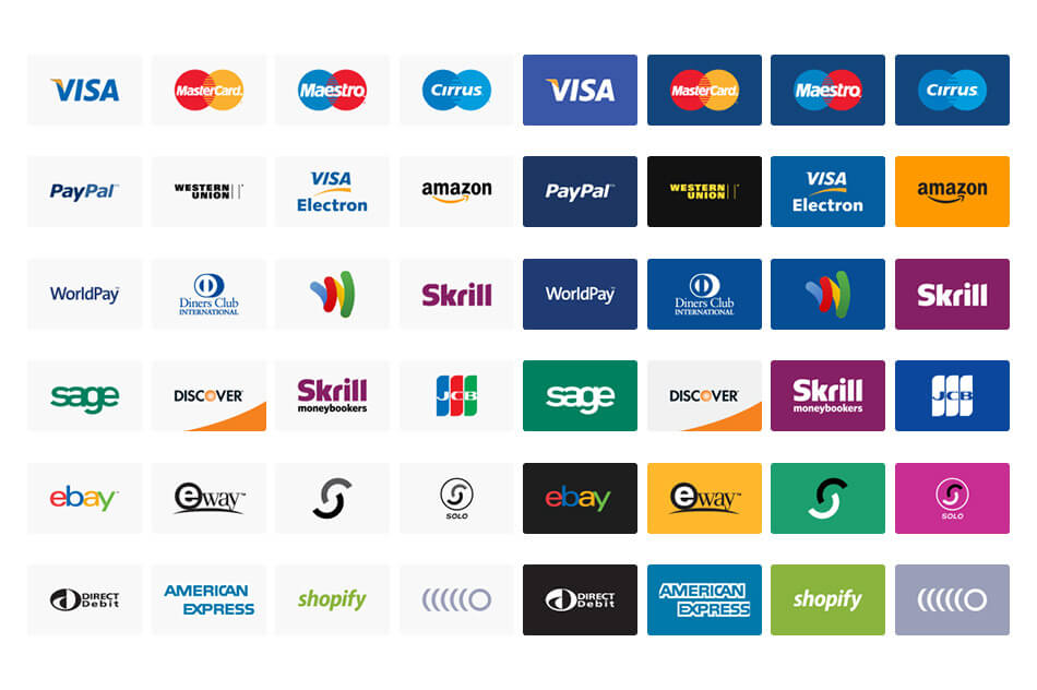 24 payment method vector icons