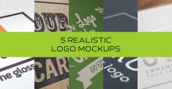 5 Realistic Logo Mockups