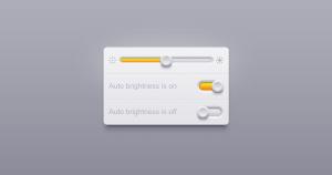 Brightness Regulation UI