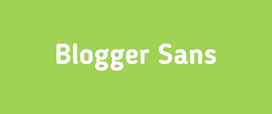 Font Blogger Sans