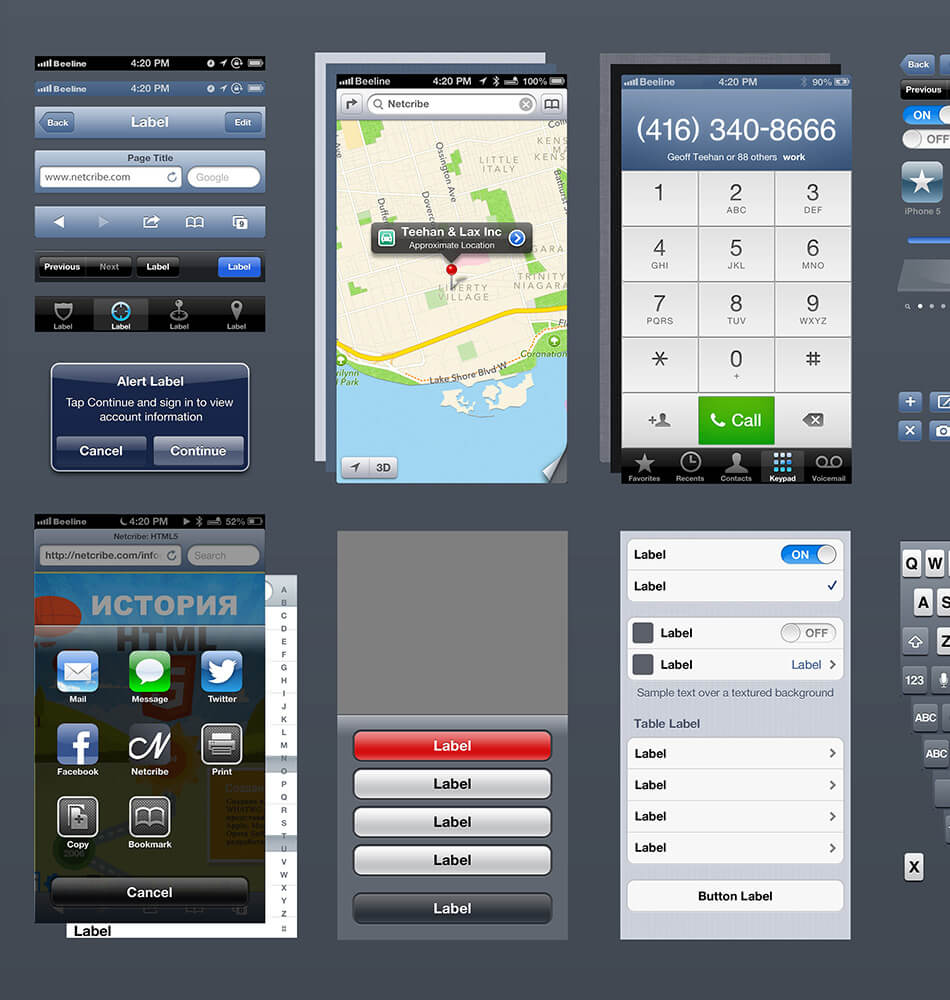 iPhone UI