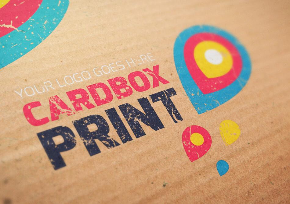 Mockup Logo Cardbox Print