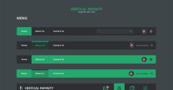 Vertical Infinity – Mega Flat Style UI Kit