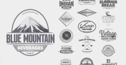 16 Retro Badges Labels And Logos
