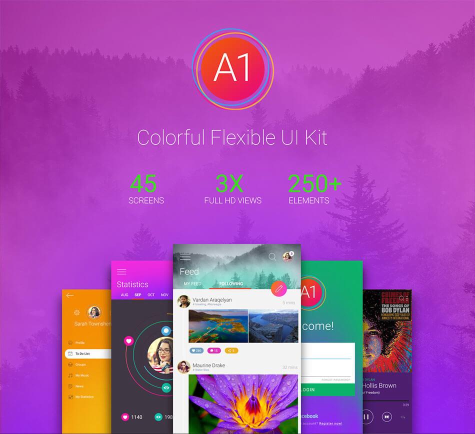 A1 Free Colorful Flexible UI Kit