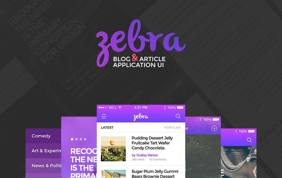 Zebra Blog And Article UI Kit