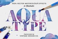 AaquaType – Vector Watercolor Effects