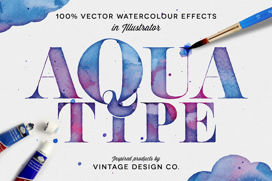 AaquaType – Vector Watercolor Effects