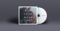 Disk And Cover Presentation Mockup