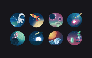 Icon Set Cosmos