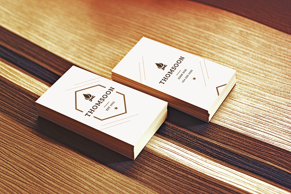 Thomsoon Business Card Mockup