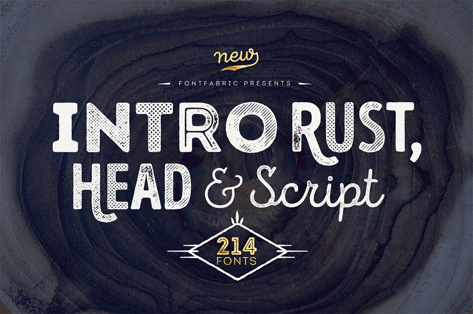 Intro Rust – Pack of 214 Fonts