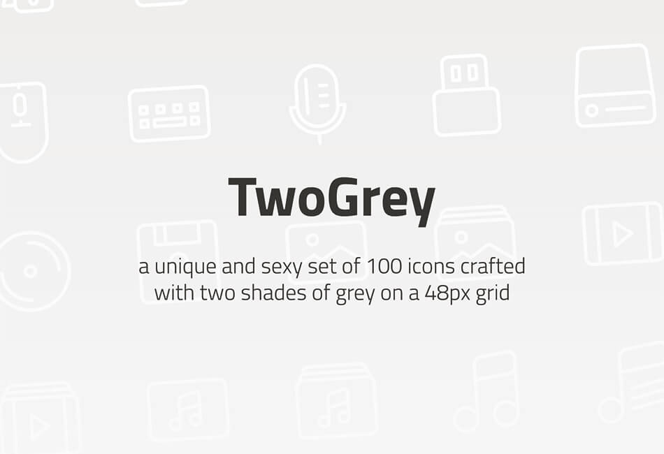 TwoGrey Icons Set