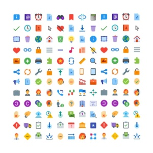 300 Flat Color Icons