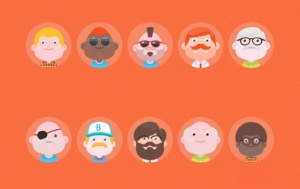 Free Set Of Material Design Avatars