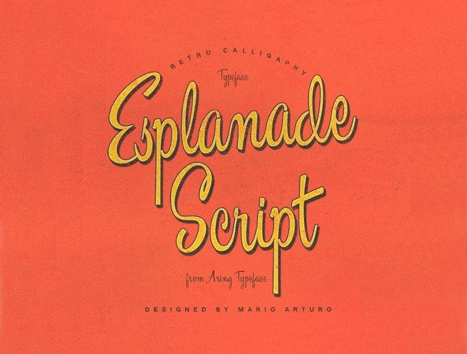 Font Esplanade Script