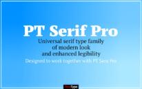 Font PT Serif Pro