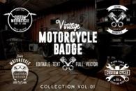Vintage Motorcycle Badge