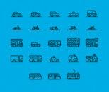 71 Traffic Transportation Icon Collection