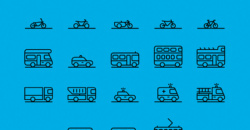 71 Traffic Transportation Icon Collection