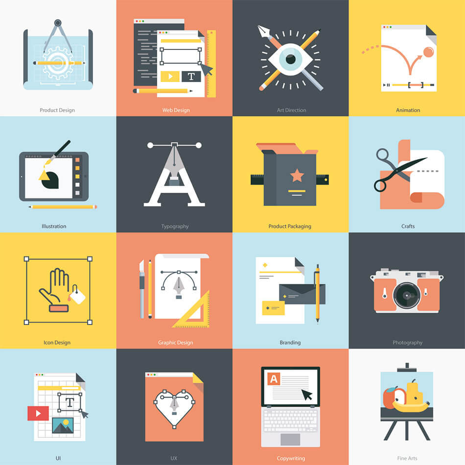 Creative Fields Icon Set