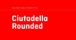 Font Ciutadella Rounded