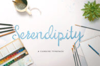 Font Serendipity Script
