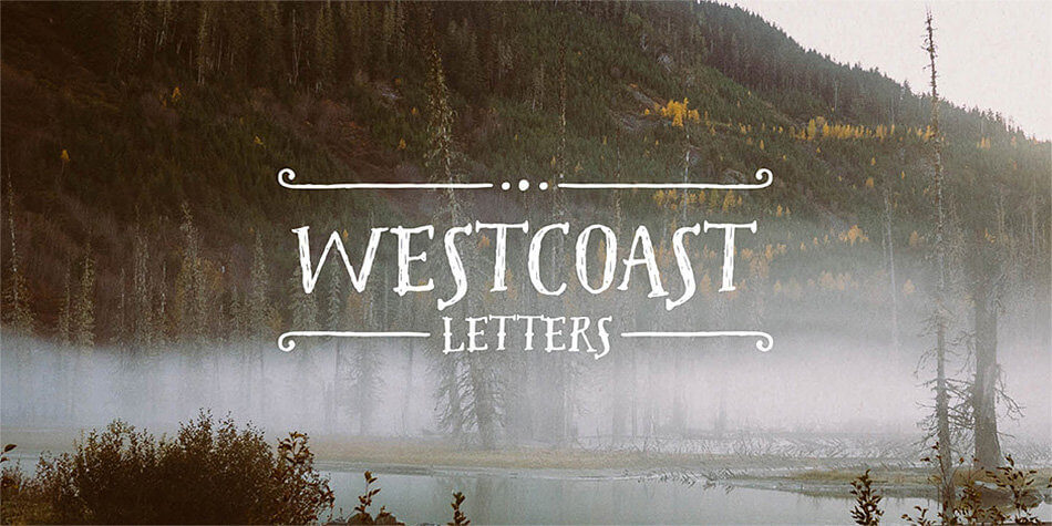 Font Westcoast Letters