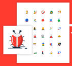 1000+ Blob Flat Icons in Two Styles