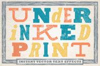 Under-Inked Print Styles