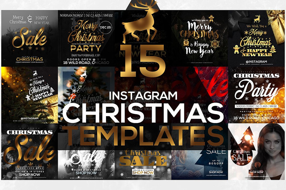 15 Instagram Templates: Christmas