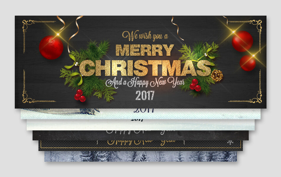 7 Christmas Facebook Covers