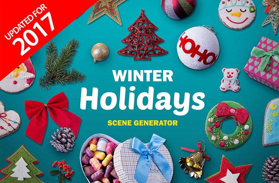 Winter Holidays scene generator V.2