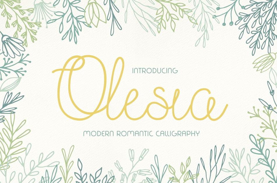 Font Olesia