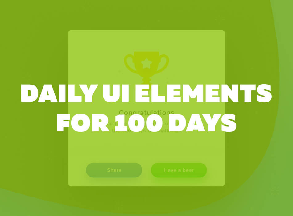 Daily UI Elements For 100 Days