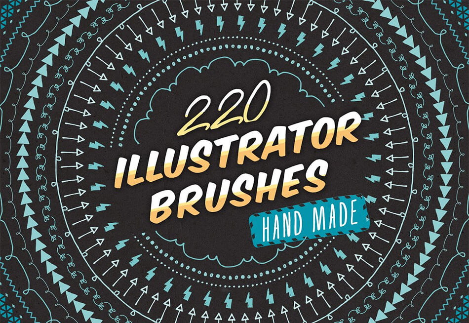 220 Sketched Illustrator Brushes