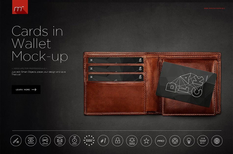 Cards in Wallet Mockup