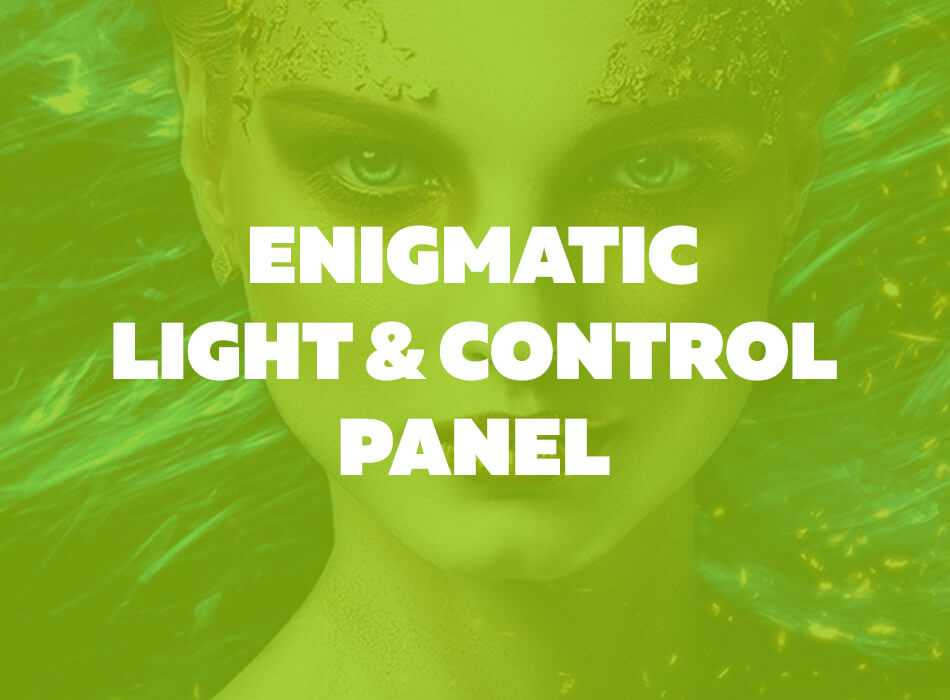 Enigmatic Light With Control Panel