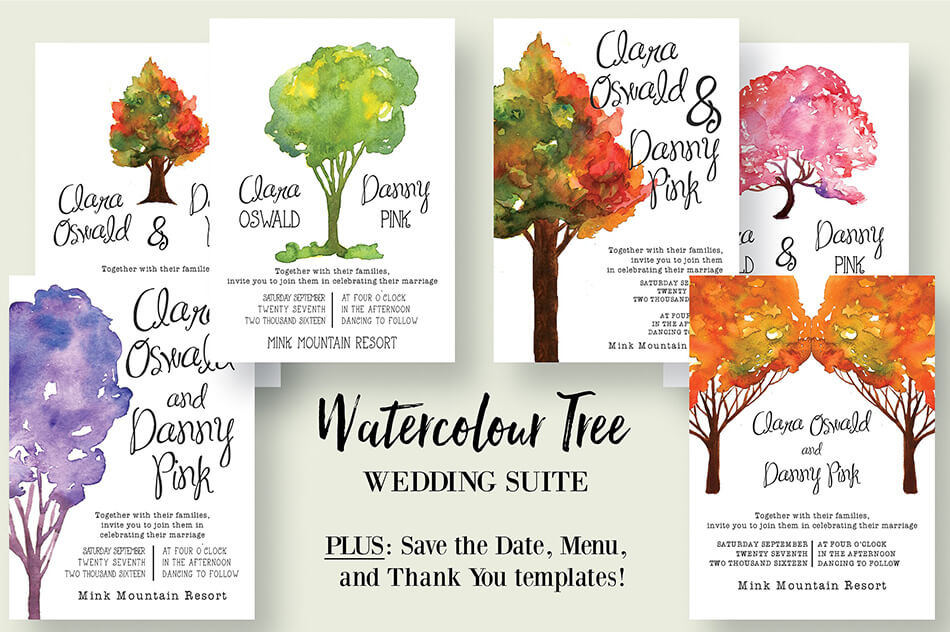 Watercolour Tree Wedding Suite 2.0