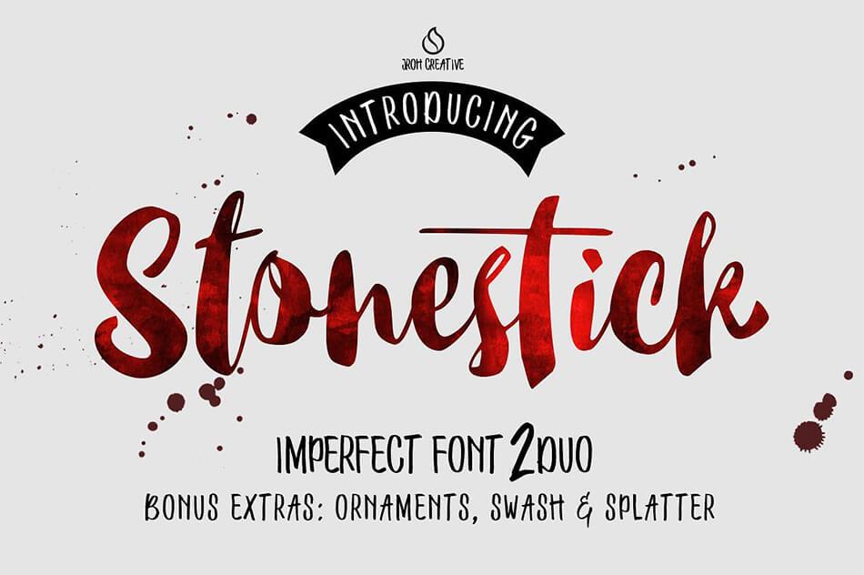 Stonestick Imperfect Script