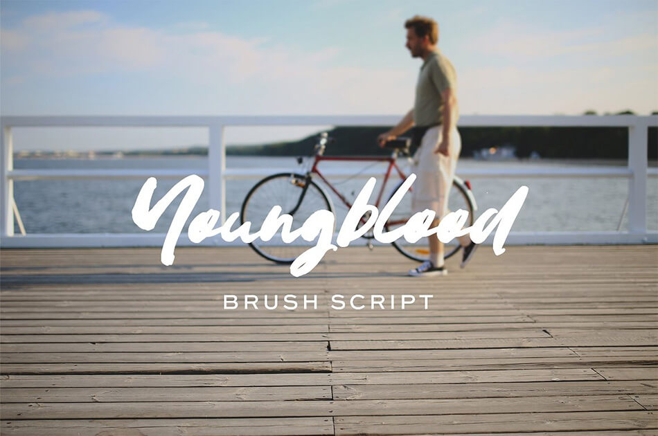 Youngblood Brush Typeface