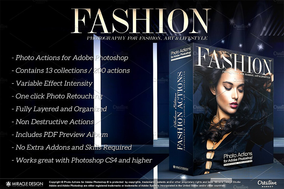 Actions for Photoshop / Fashion