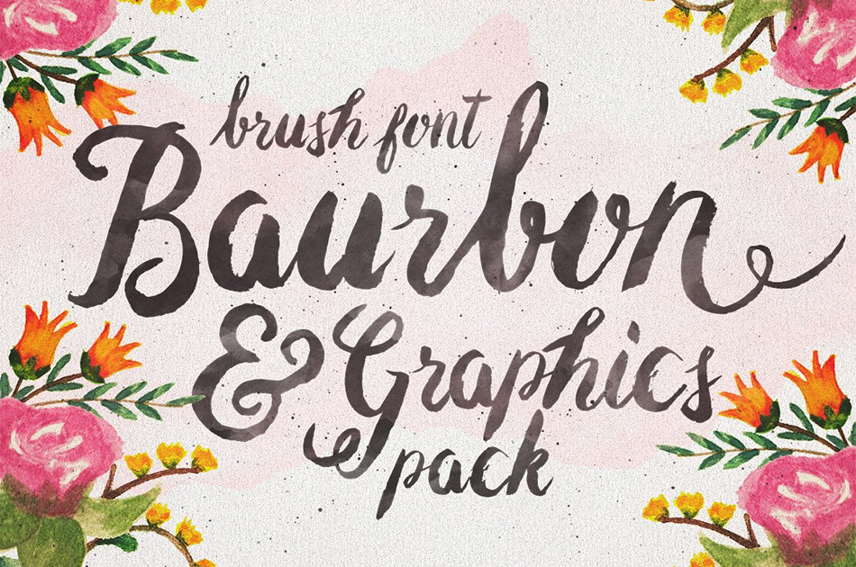 Baurbon Font and Graphics Pack