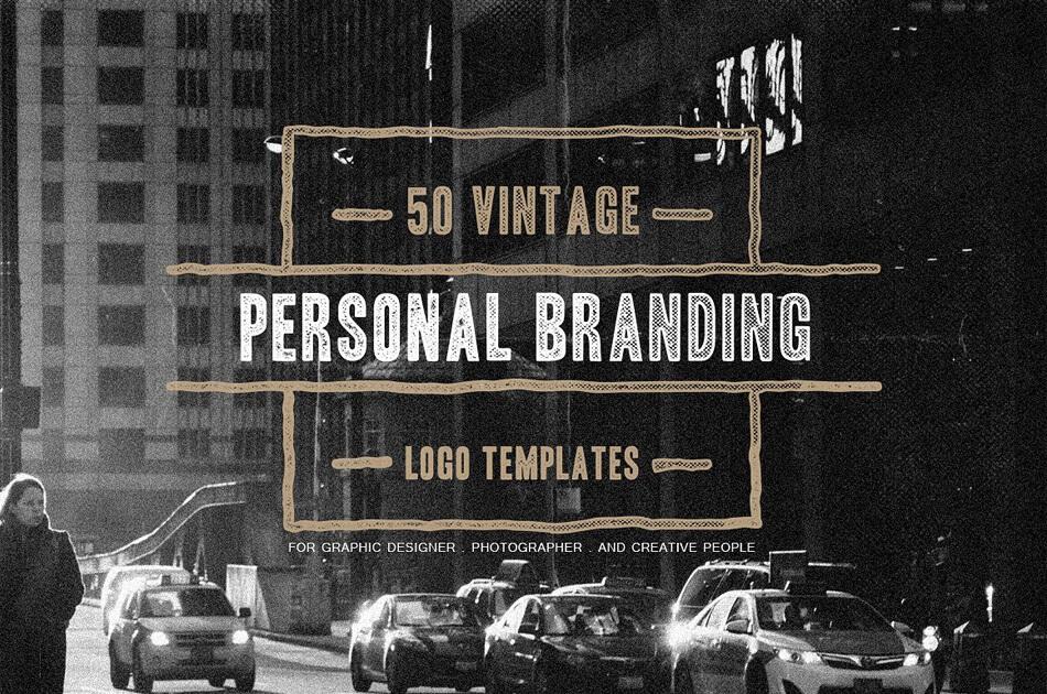 50 Vintage Personal Logo