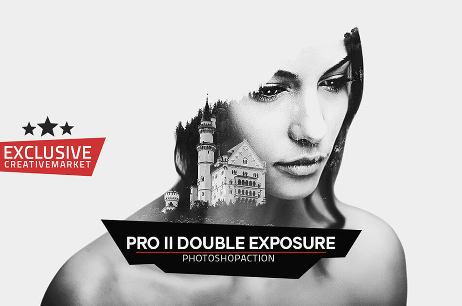 Pro II Double Exposure Photoshop Action